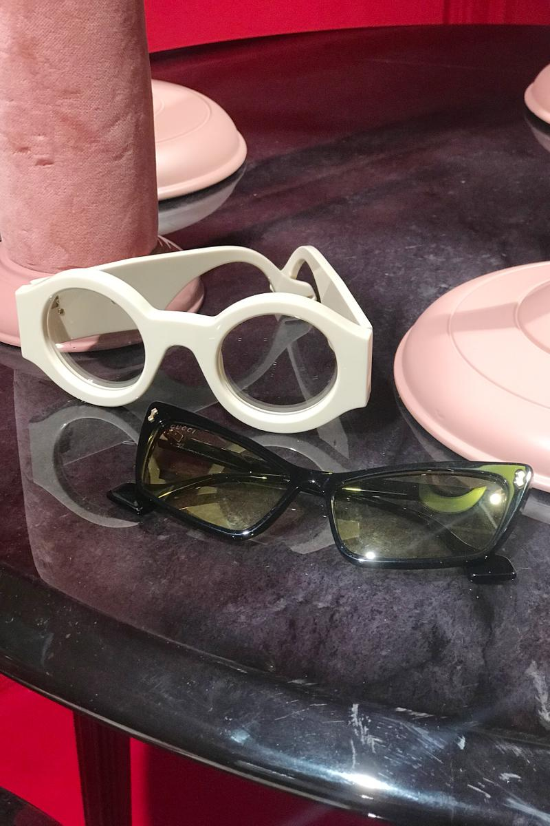 Gucci Fall Winter 2019 Collection Sunglasses White Grey Black