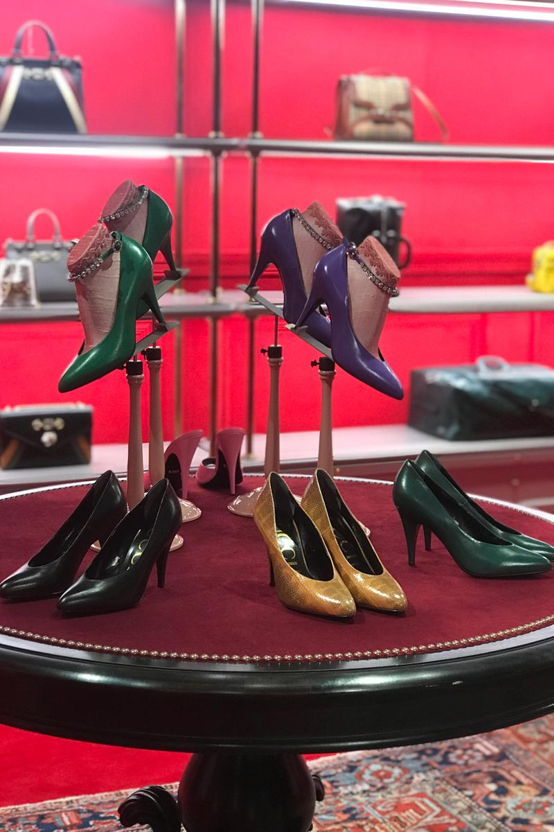 Gucci Fall Winter 2019 Collection Heels Yellow Red Black Green
