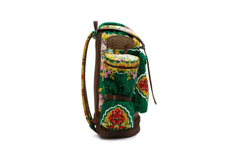 Gucci Oversized Tapestry Backpack Green