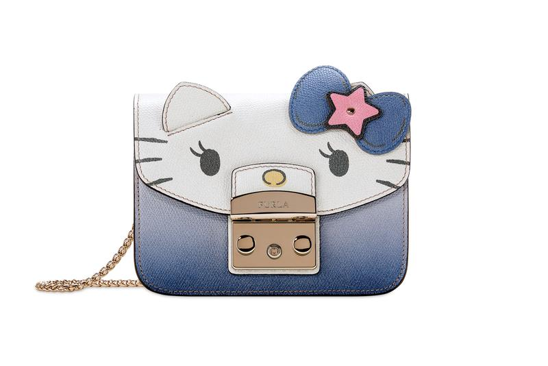 Hello Kitty x Furla Collection Mini Cosmetic Case Blue White Pink