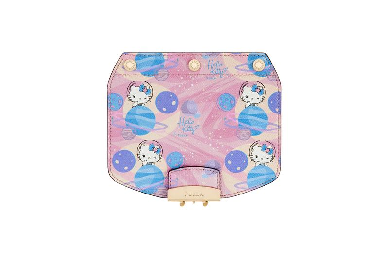 Hello Kitty x Furla Collection Crossbody Flap Blue Pink