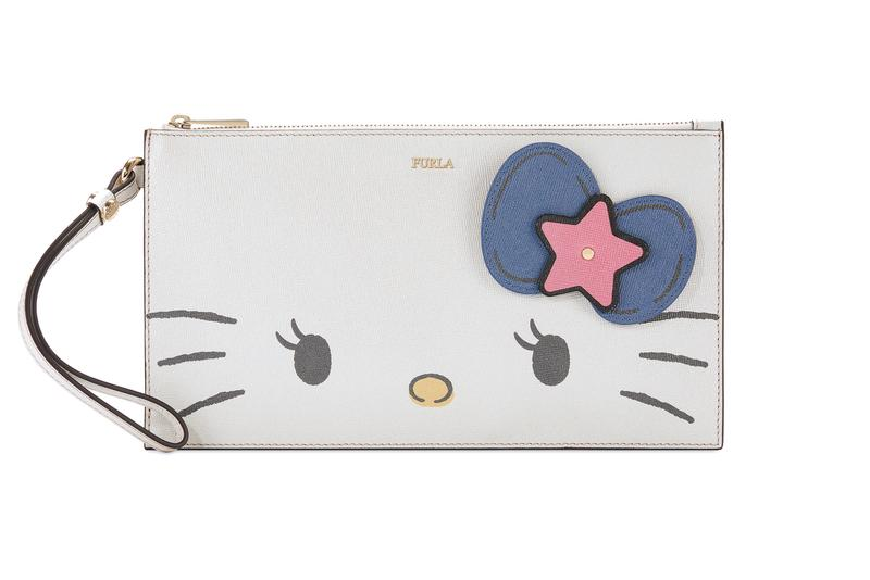 Hello Kitty x Furla Collection XL Envelope Wallet White Blue