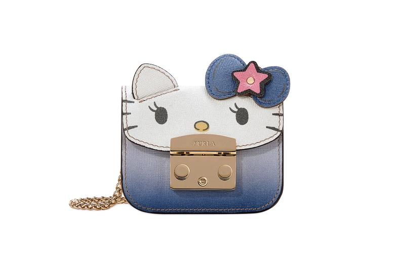 Hello Kitty x Furla Collection Mini Cosmetic Case Blue Pink White