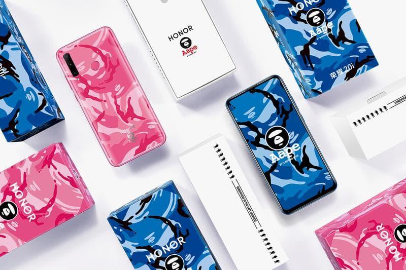 AAPE Honor2i Pink Blue Camo