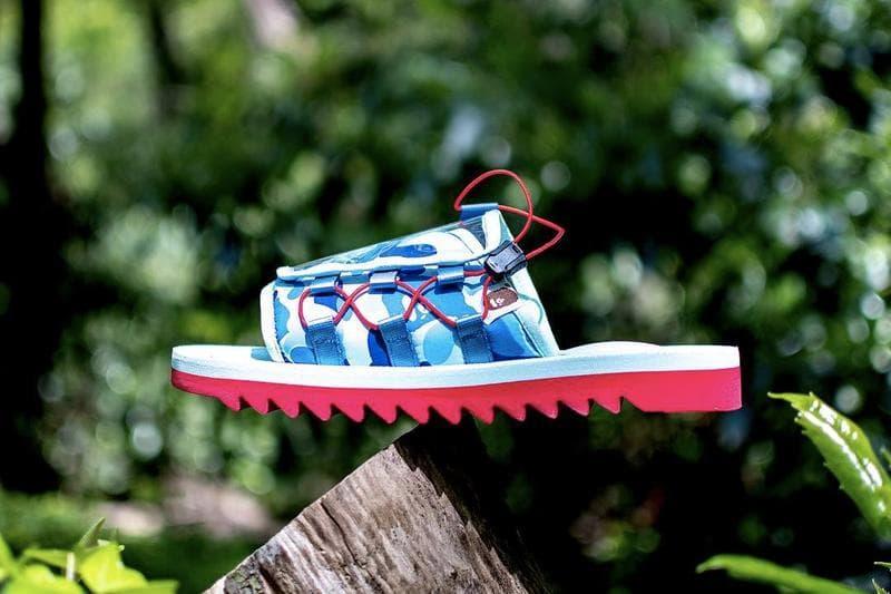 BAPE Suicoke Sandal Green Pink Blue