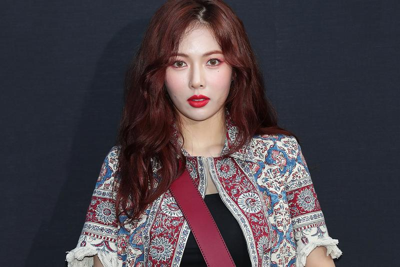 Hyuna K-Pop Singer Artist Red Lips Miss Dior Photocall P NATION