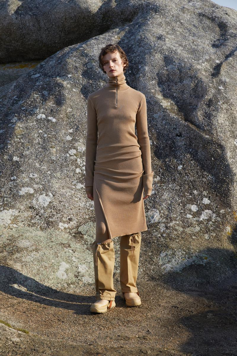 Jil Sander Plus Fall Winter 2019 Collection Sweater Dress Pants Tan