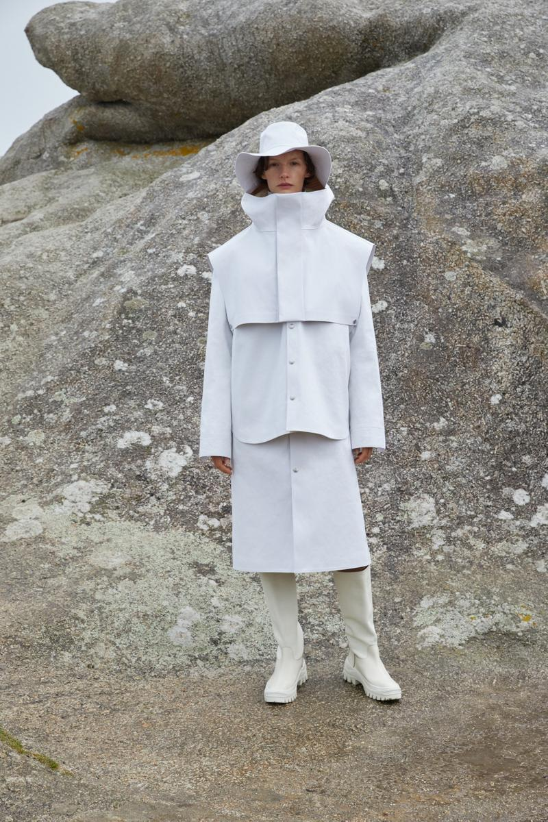 Jil Sander Plus Fall Winter 2019 Collection Jacket Skirt Hat White