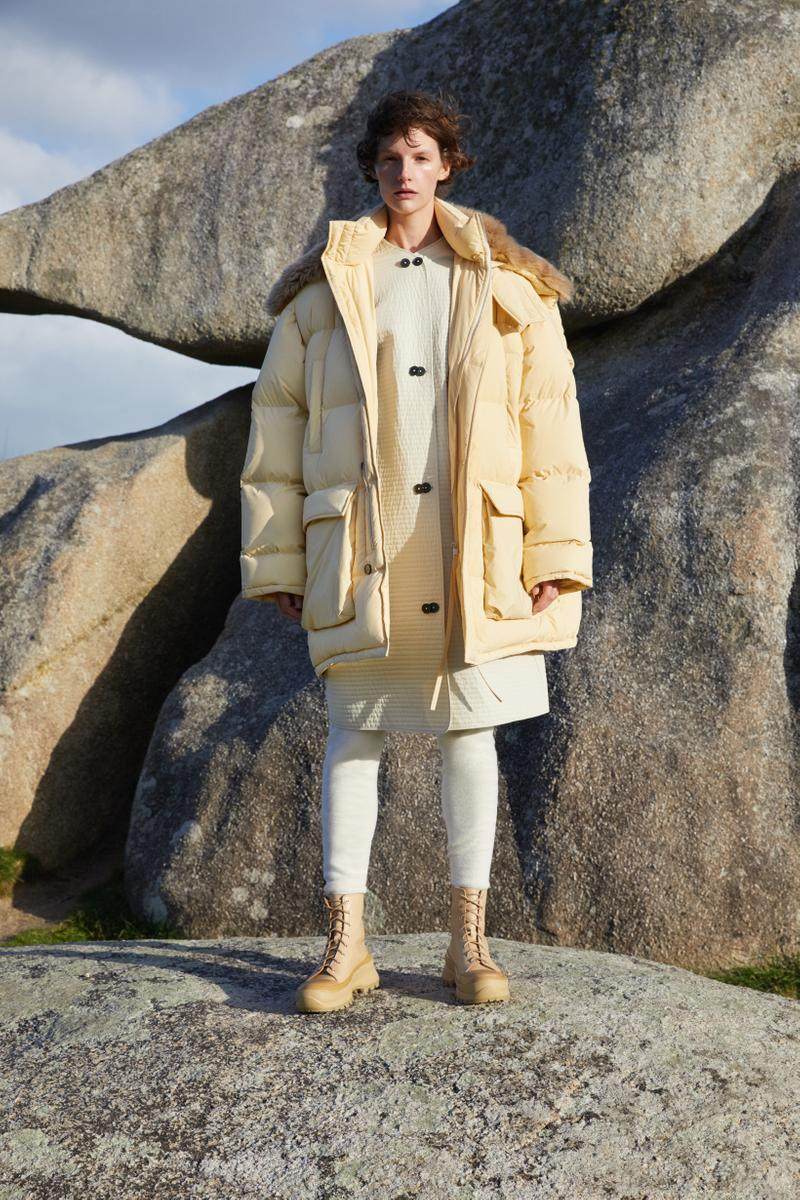 Jil Sander Plus Fall Winter 2019 Collection Puffer Coat Yellow Skirt Cream