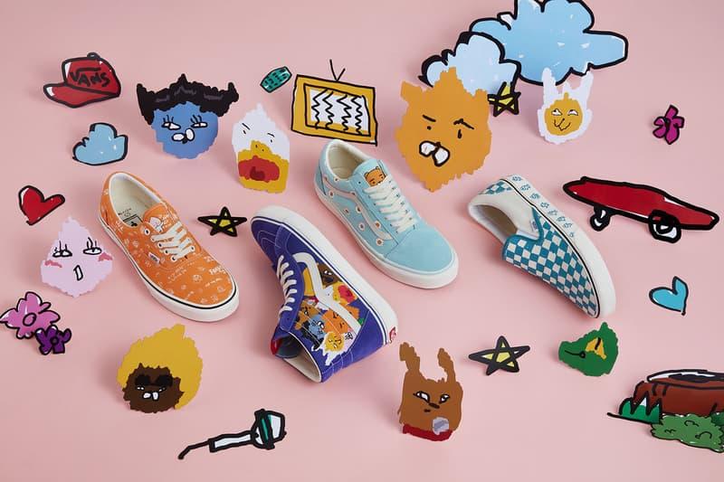 Kakao Friends x Vans Capsule Collection Era Orange Sk8 Hi Blue Yellow Old Skool Slip On White