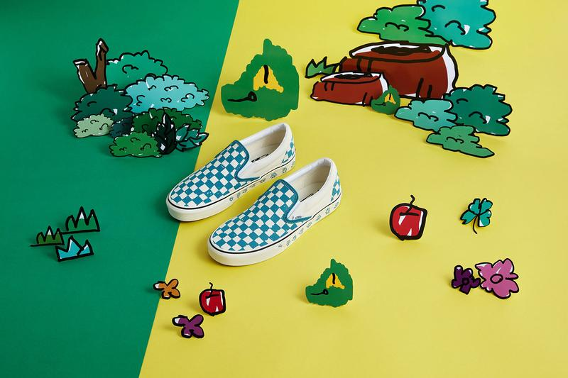 Kakao Friends x Vans Capsule Collection Slip On White Blue