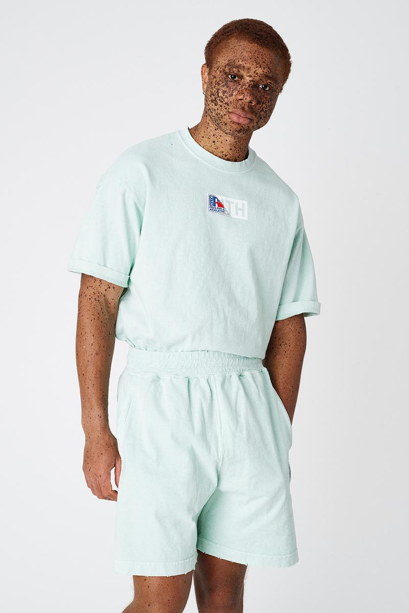 KITH Russell Athletic Unisex Collaboration Pastel Graphic T-Shirt Hoodie Sweatshirt Shorts Ronnie Fieg