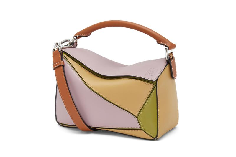 Loewe Paula Ibiza Summer 2019 Collection Puzzle Bag Purple Yellow Tan