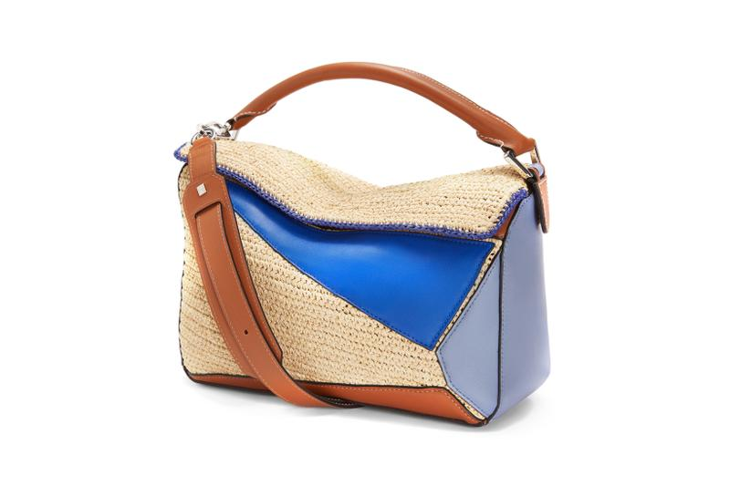 Loewe Paula Ibiza Summer 2019 Collection Puzzle Bag Brown Cream Blue
