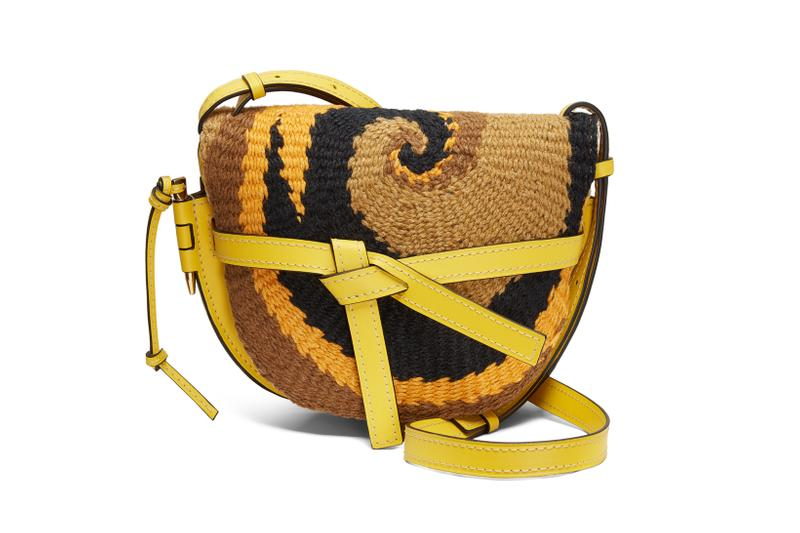 Loewe Paula Ibiza Summer 2019 Collection Mini Grain Leather Bag Yellow Brown