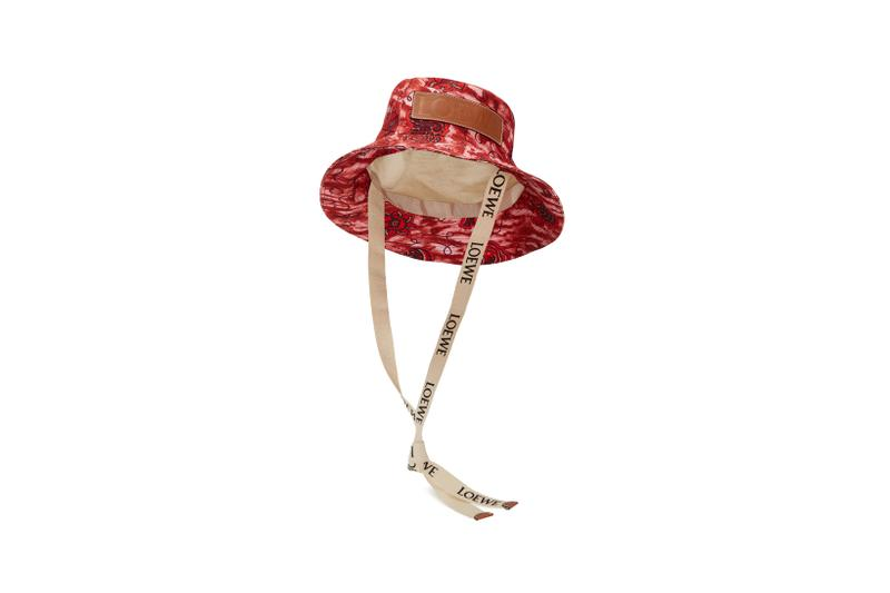 Loewe Paula Ibiza Summer 2019 Collection Hat Orange Red Tan