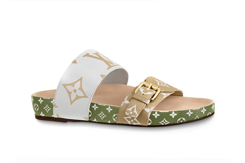 Louis Vuitton Bom Dia Sandal Green White