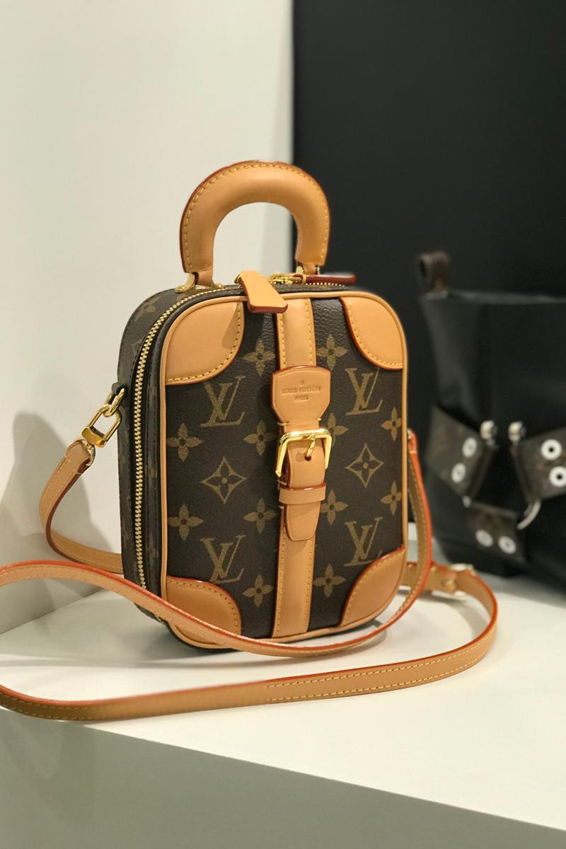 Louis Vuitton Fall Winter 2019 Closer Look Logo Handbag Brown Tan