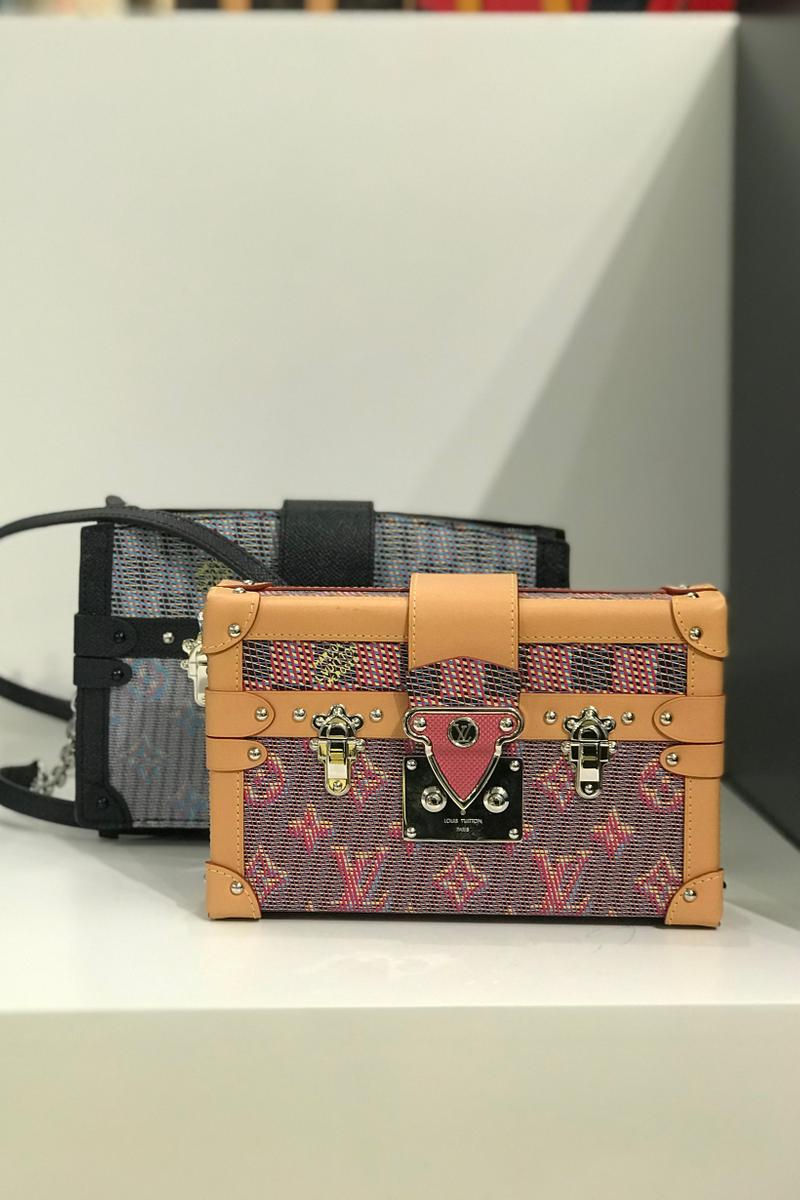 Louis Vuitton Fall Winter 2019 Closer Look Box Handbags Tan Black