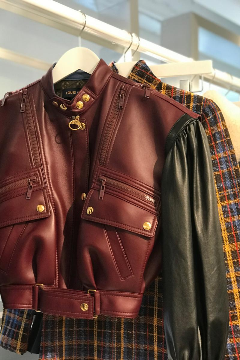 Louis Vuitton Fall Winter 2019 Closer Look Leather Jacket Black Maroon