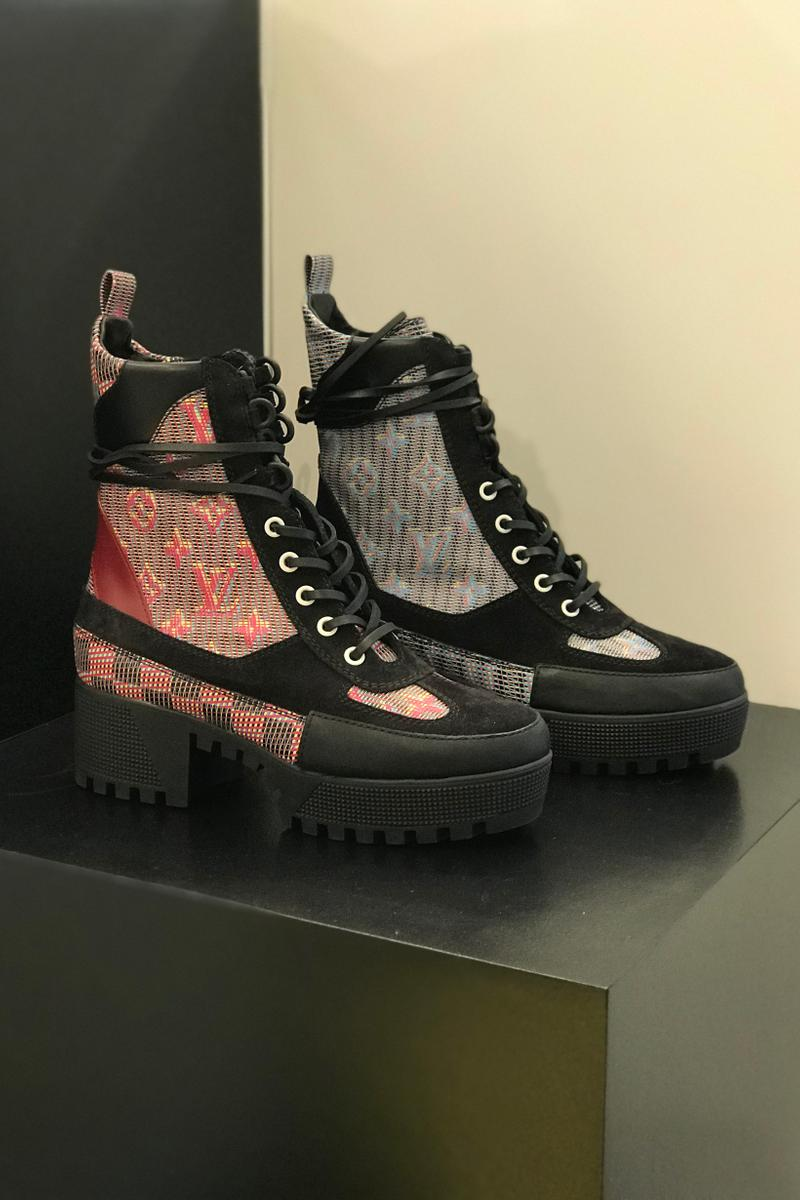 Louis Vuitton Fall Winter 2019 Closer Look Desert Boots Black Red Grey