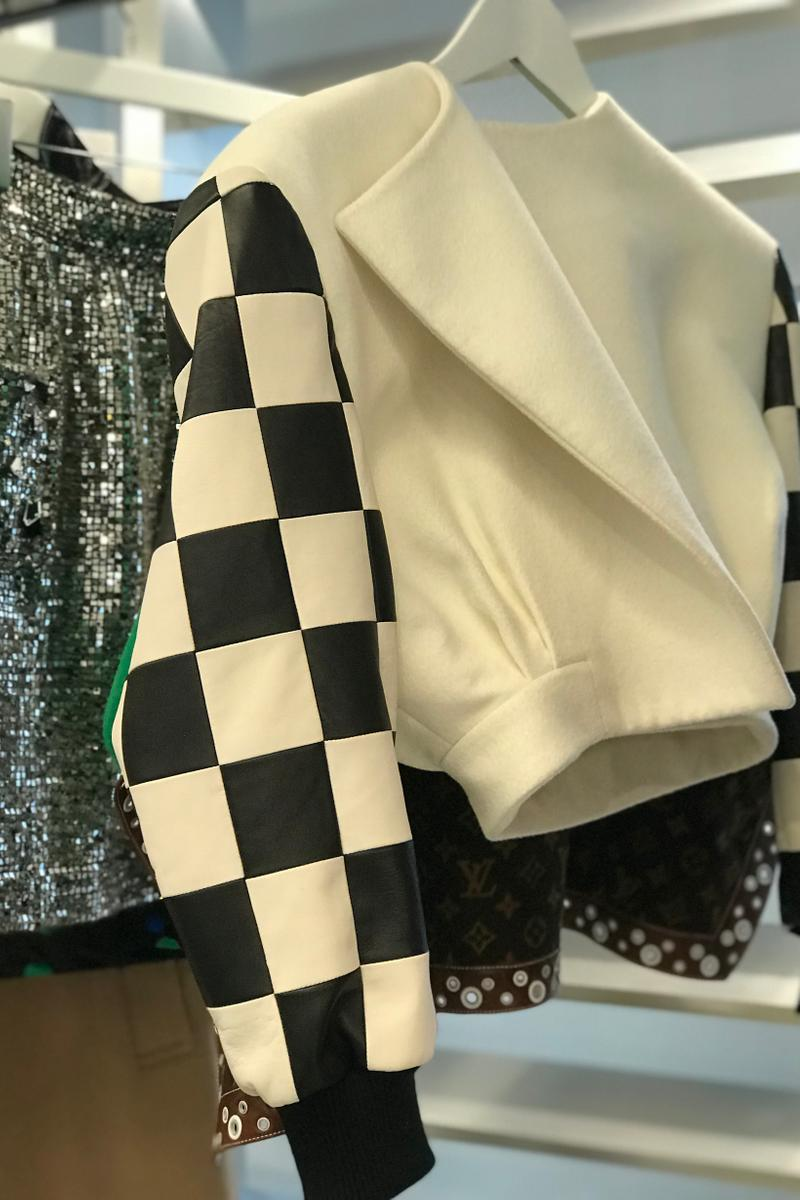 Louis Vuitton Fall Winter 2019 Closer Look Jacket White Black
