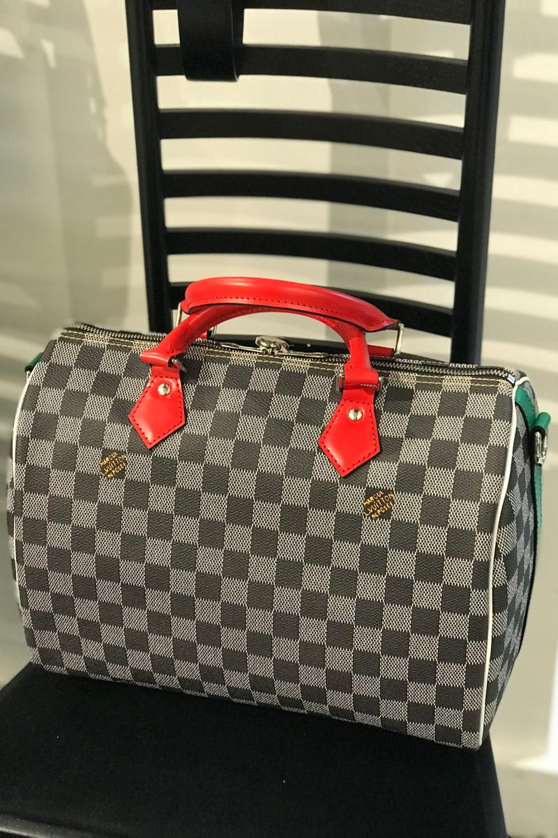 Louis Vuitton Fall Winter 2019 Closer Look Bowling Bag Red Black Grey