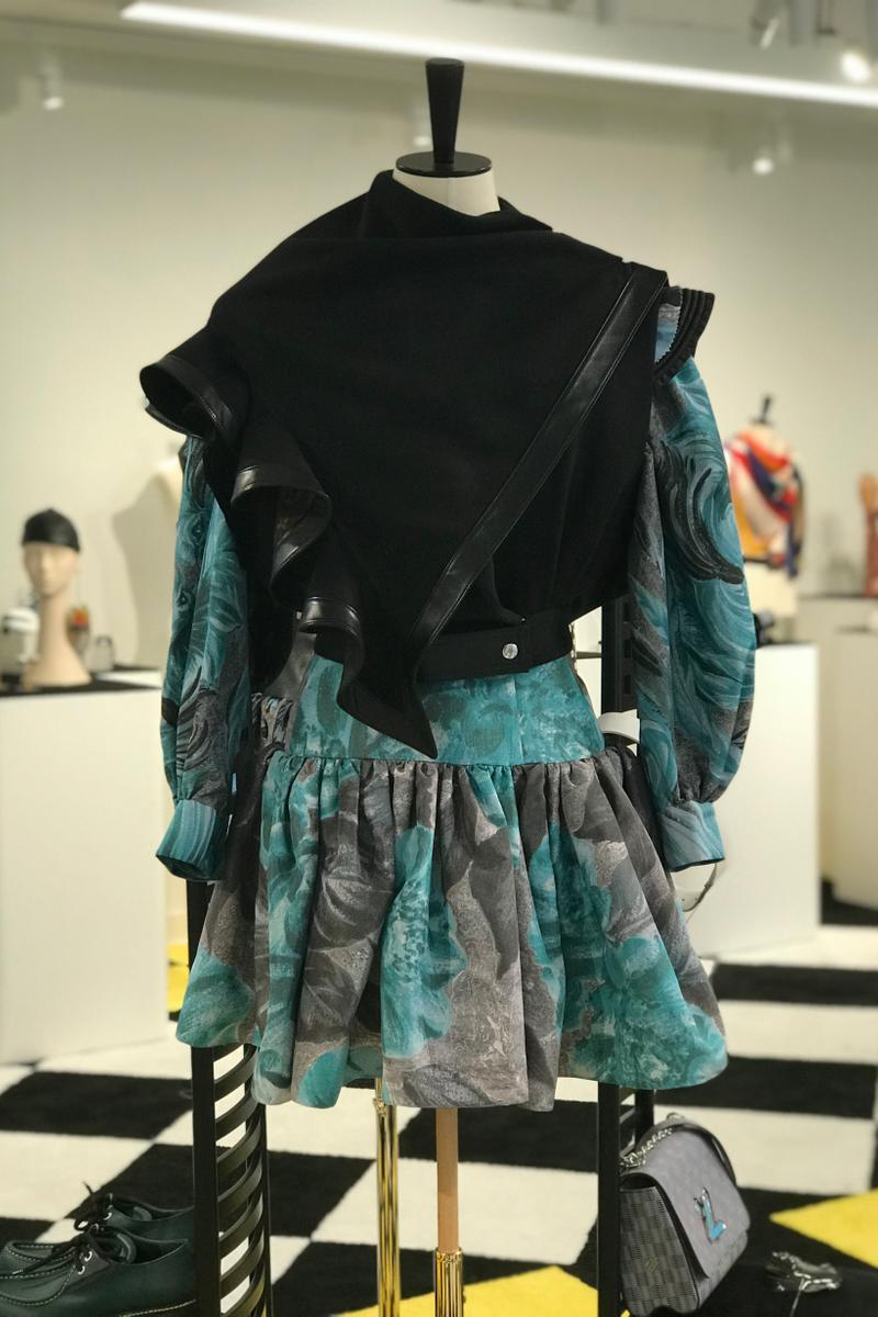 Louis Vuitton Fall Winter 2019 Closer Look Jacket Black Skirt Teal