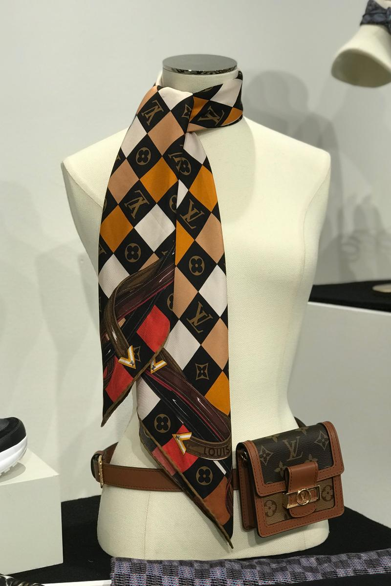 Louis Vuitton Fall Winter 2019 Closer Look Scarf Bag Brown Yellow