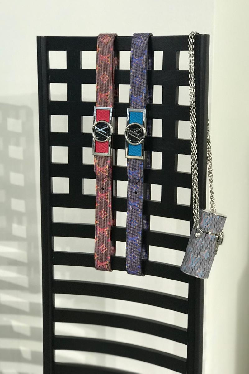 Louis Vuitton Fall Winter 2019 Closer Look Belts Red Blue Teal