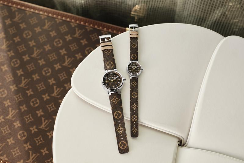 Louis Vuitton Monogram Watches Tambour Icons Collection Bracelet Timepiece Pattern Print Jewelry