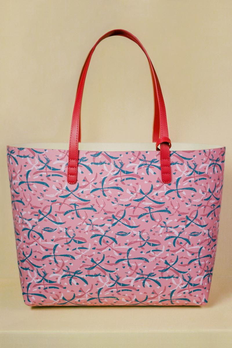 Marc Camille Chaimowicz x Mansur Gavriel Spring Summer 2019 Collection Tote Pink Red