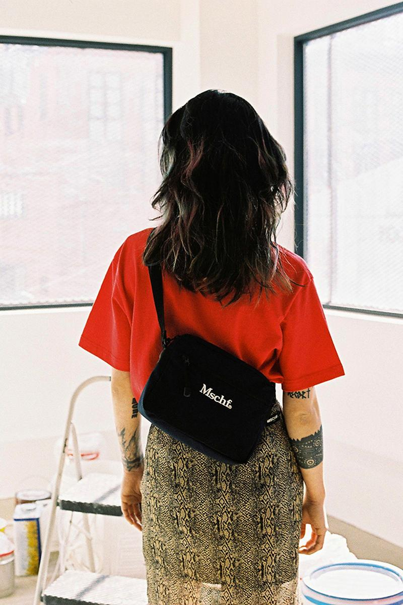 mischief spring summer 2019 ss19 korean streetwear k-fashion lookbooks dad caps blazers backpacks graphic tees