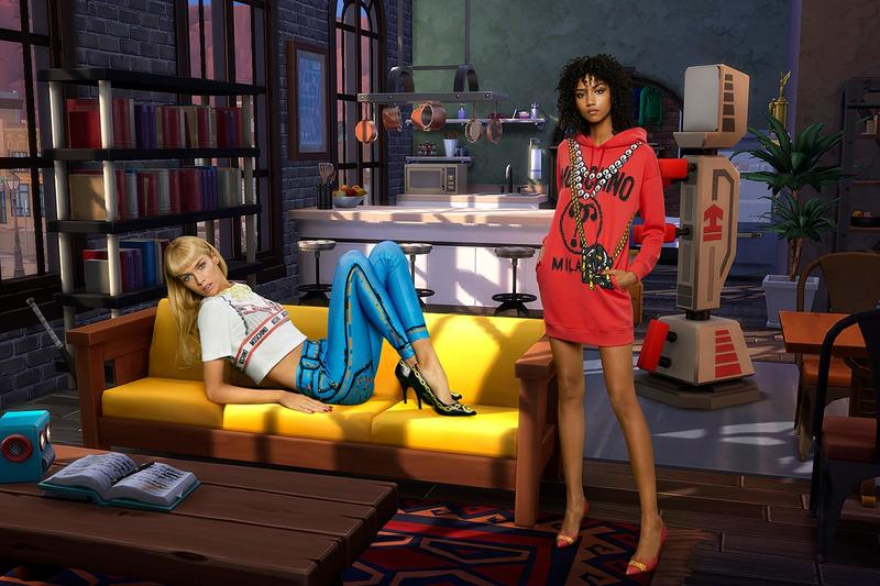c659d27165586 'The Sims' & Moschino Launch Virtual Reality-Inspired SS19 Collection