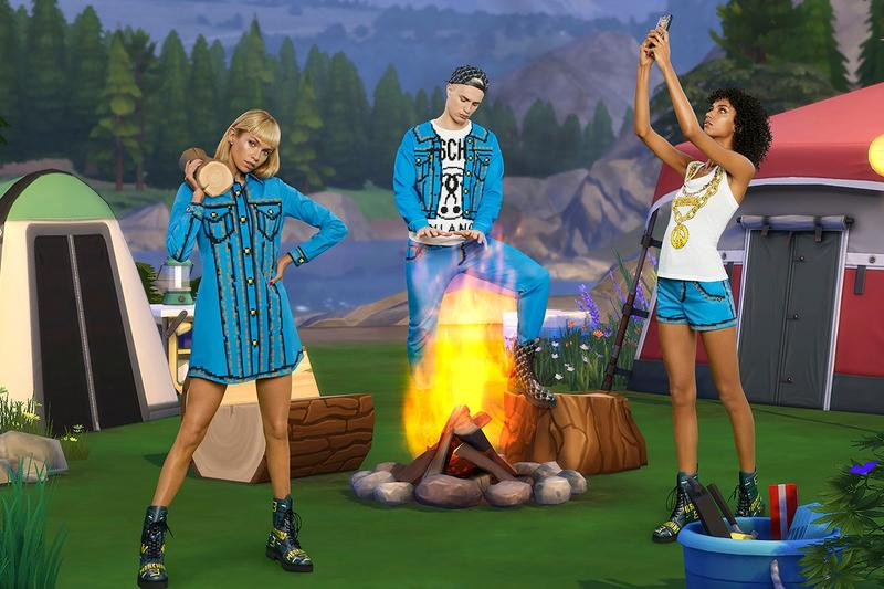The Sims x Moschino Spring Summer 2019 Collection Jackets Teal Top White