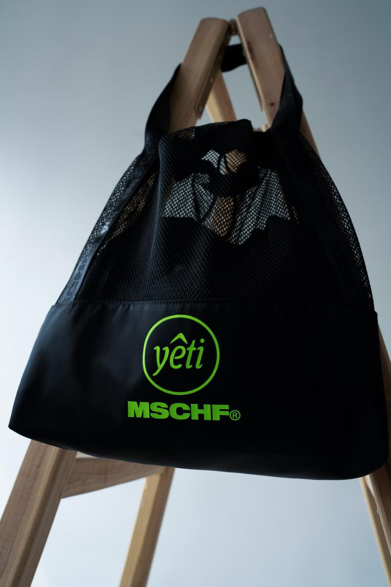 MISCHIEF x YETI OUT Fury Glow Capsule Collection Tote Black