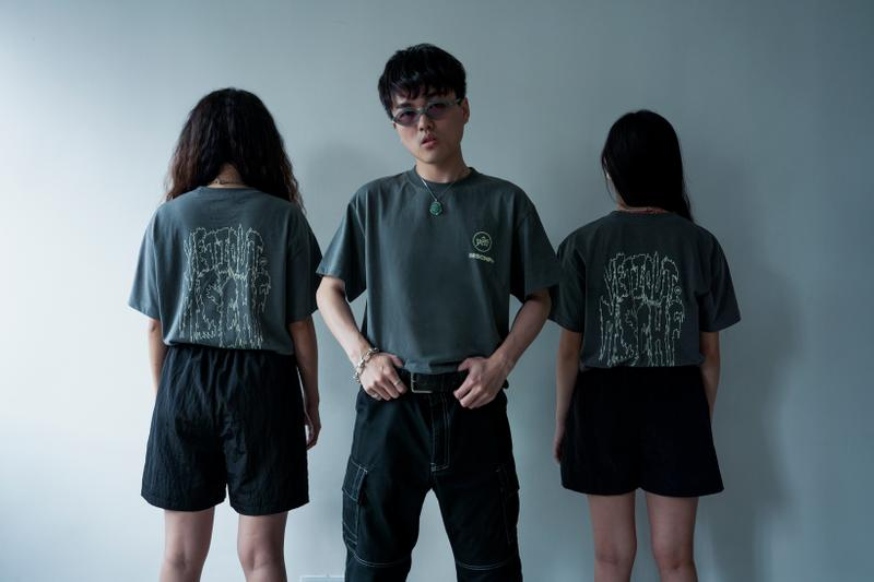 MISCHIEF x YETI OUT Fury Glow Capsule Collection T Shirts Grey Shorts Black