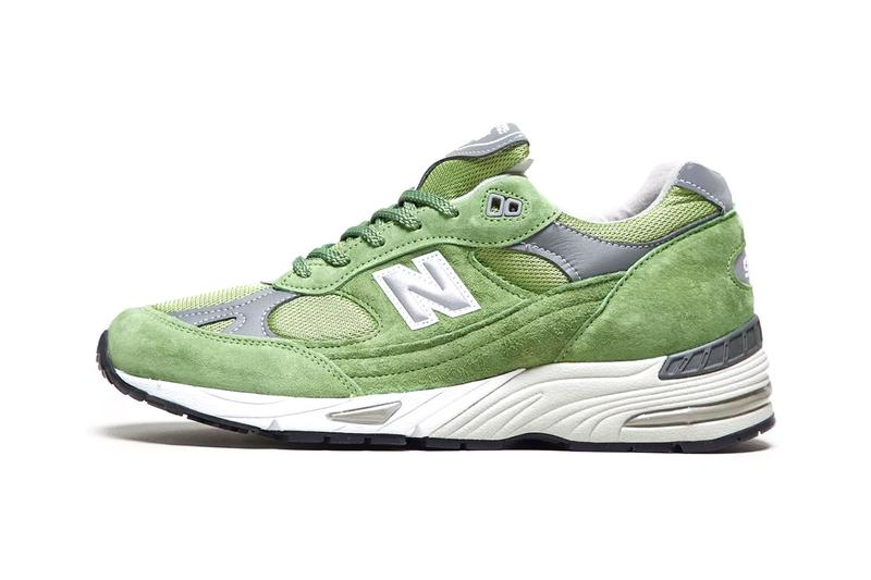 New Balance 991 Green Suede