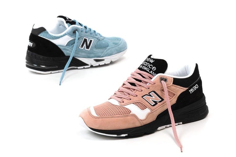 28e0bc6b95185 New Balance 991 Blue & 1530 Pink Pastel Paradise   HYPEBAE