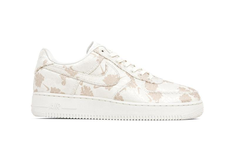 "Nike Air Force 1 Premium ""Sail/Ivory/Guava Ice"" Spring Summer Sneaker Shoe Trainer Release White Pattern Floral"