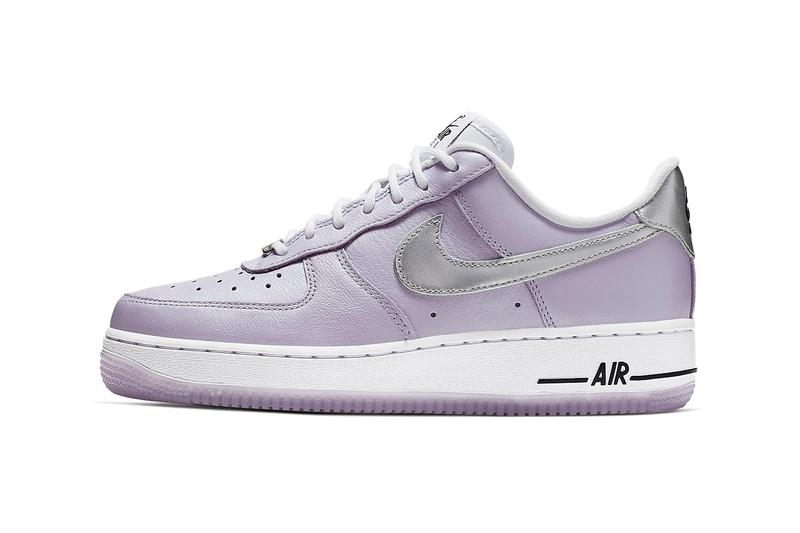 Nike Air Force 1 Metallic Lilac Silver Oxygen Purple Sneakers Trainers