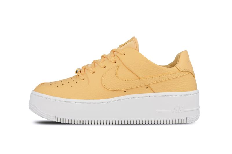 Nike Air Force 1 Sage Pastel Purple and Yellow Release Platform Air Force 1 Where to Buy Spring Summer Sneakers