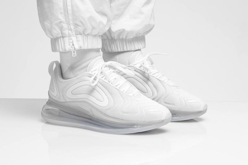 nike air max 720 pure platinum triple white