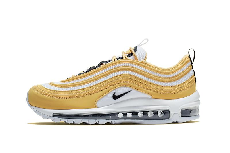 926c6b38ed Nike Air Max 97 Yellow/Black/White Statement Sneaker Shoe Spring Summer