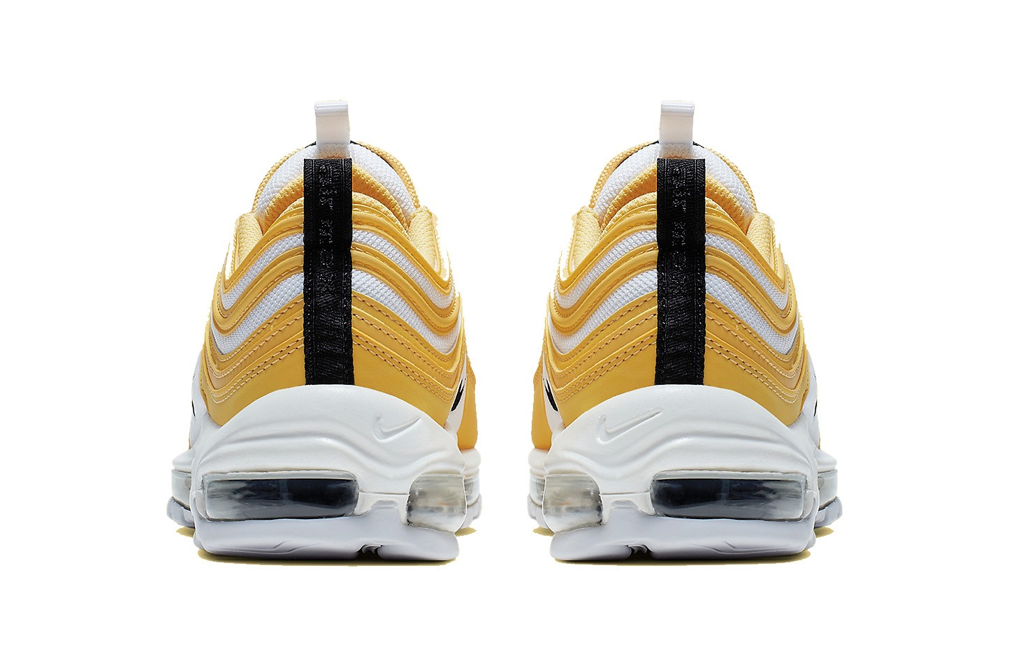 black yellow and white air max 97