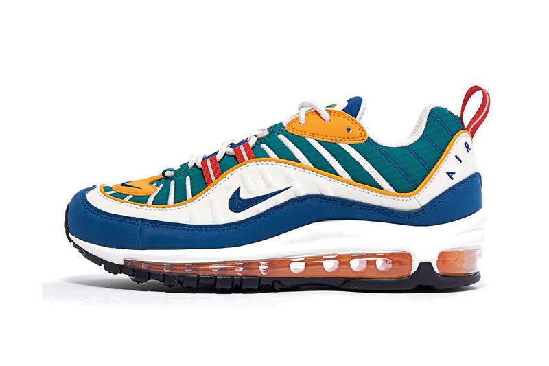 Nike Air Max 98 University Red/Blue Force Orange Peel Release Spring Summer Sneaker Shoe Drop