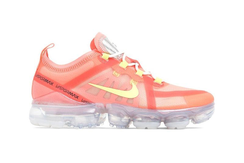 Nike Air VaporMax Living Coral Pink Tint Volt Sneakers Trainers Pantone Color of The Year 2019