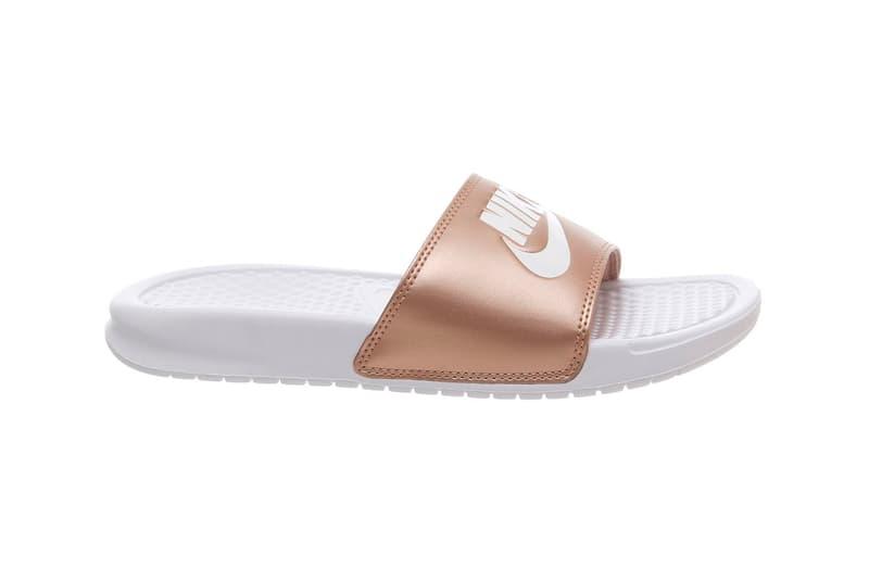 san francisco 45b3f 04ff4 Nike Benassi Slides Arrive in Metallic Red Bronze | HYPEBAE