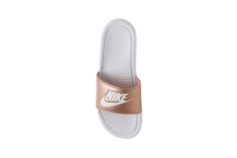 new arrival ec2d4 6596a Nike Benassi Slide Metallic Red Bronze White