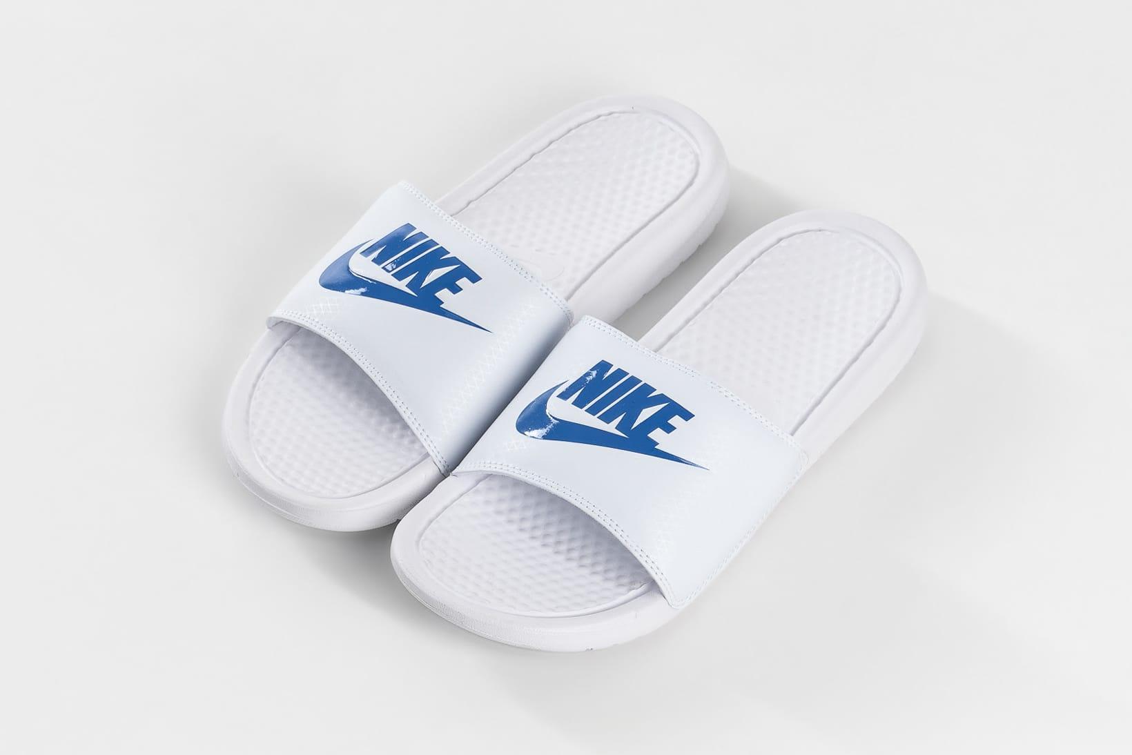Nike Releases Benassi Slides in White